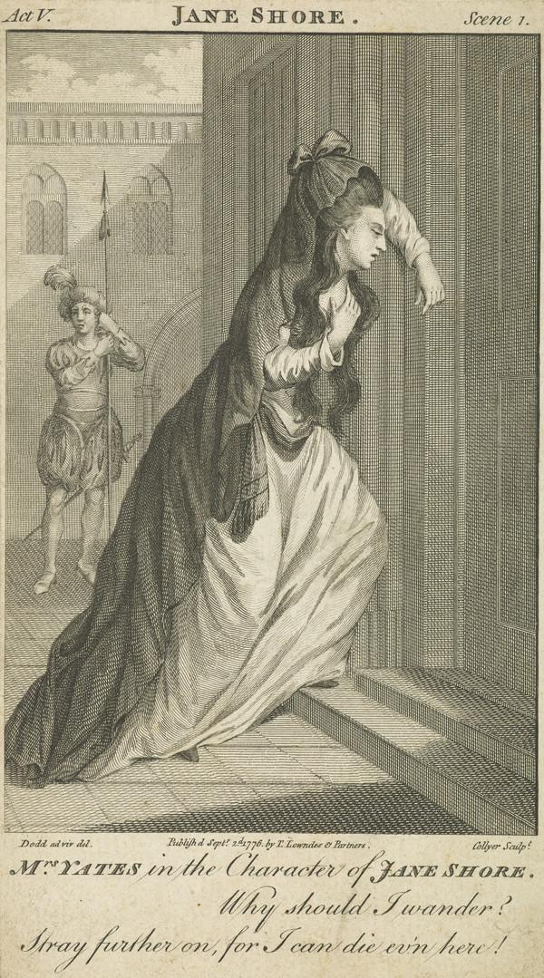 Elizabeth Yates (nee Brunton), 1799 - 1860. Actress, in the character of Jane Shore