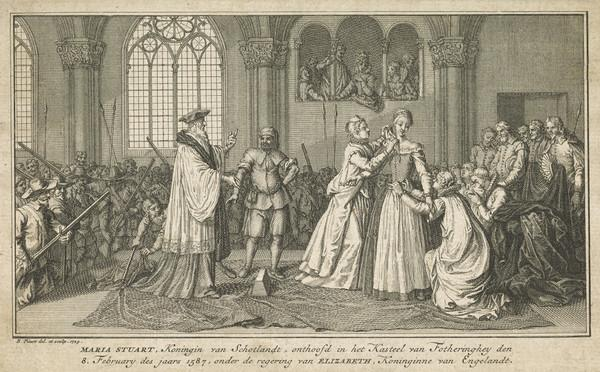 Mary, Queen of Scots, 1542 - 1587. Reigned 1542 - 1567 (Published 1729)