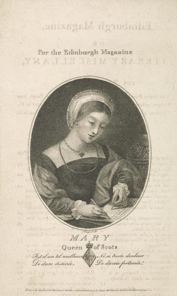 Mary, Queen of Scots, 1542 - 1587. Reigned 1542 - 1567 (Published 1792)