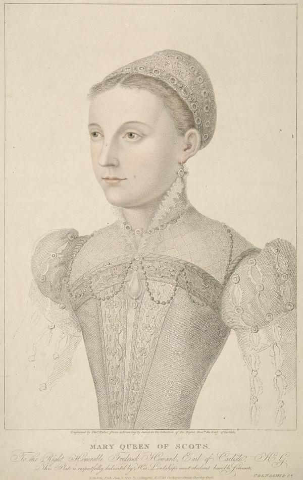 Mary, Queen of Scots, 1542 - 1587. Reigned 1542 - 1567 (Published 1821)