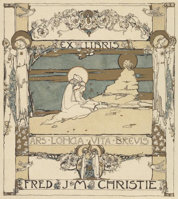 Bookplate for Fred J.M. Christie