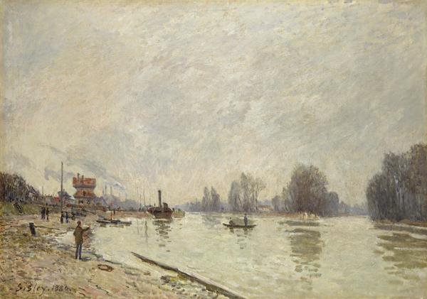 The Seine at Suresnes (Dated 1880)