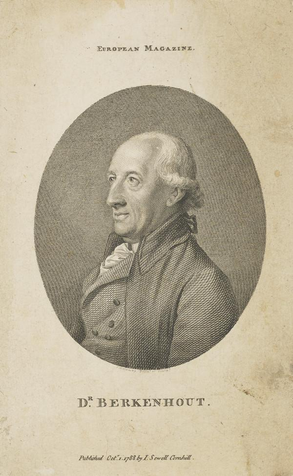 Dr John Berkenhout, 1730 - 1791. Physician and naturalist