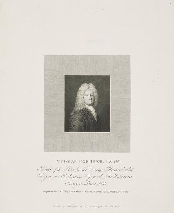 Thomas Forster, c 1675 - 1738. Member of Parliament; Jacobite