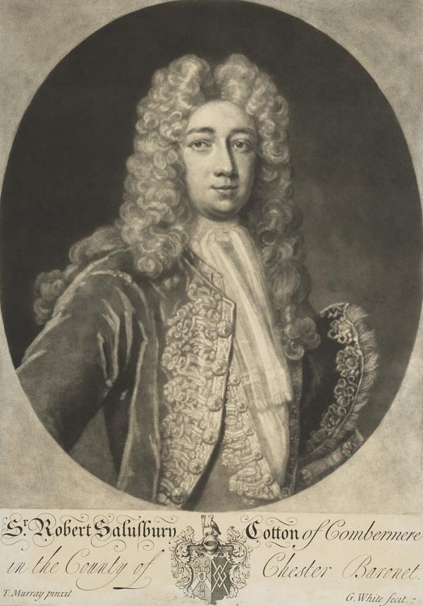 Sir Robert Salusbury Cotton, d. 1748. Member of Parliament for Cheshire