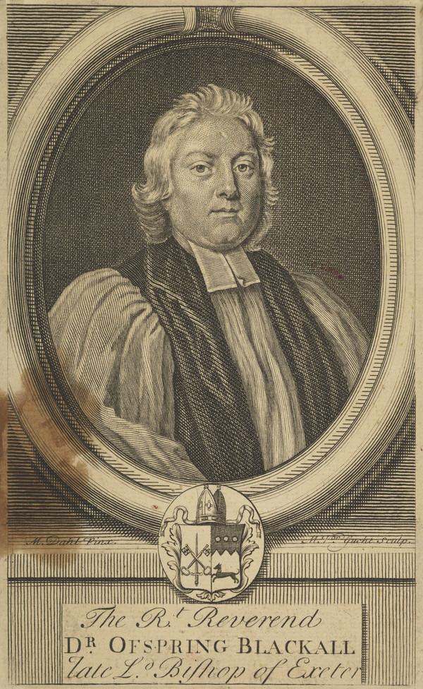 Rev. Offspring Blackall, 1654 - 1716. Bishop of Exeter