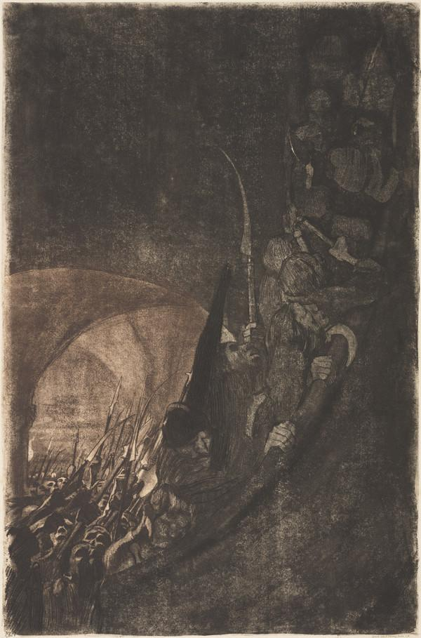 Bewaffnung in einem Gewolbe [Arming in a Cellar] (1906 (published 1921))