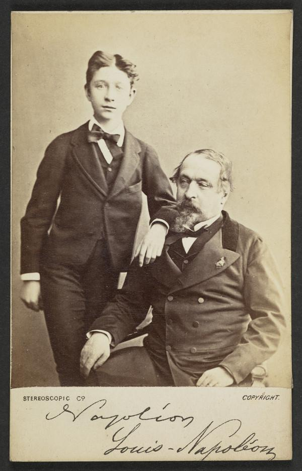 Portrait of a Man and Boy, Napoleon, Louis-Napoleon