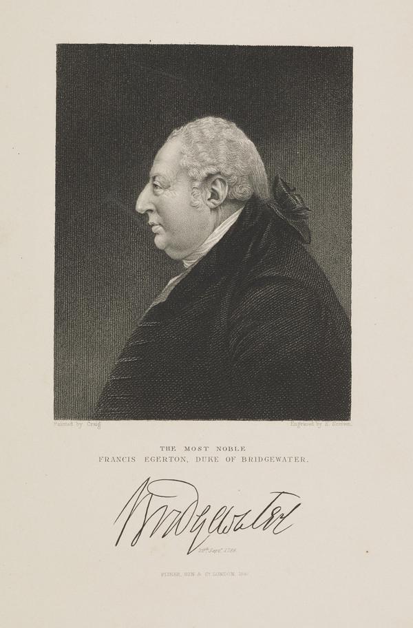 Francis Egerton, 3rd Duke of Bridgewater, 1736 - 1803. Promoter of the Bridgewater Canal