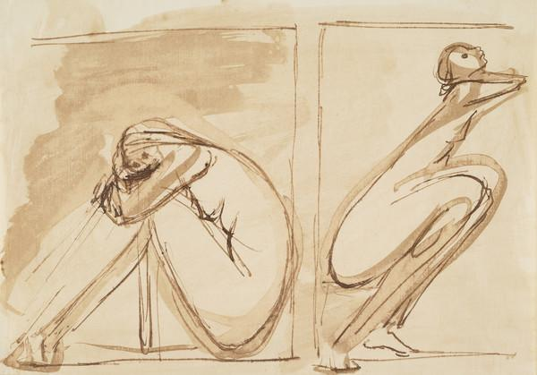Study for the Relief 'Age and Youth' (About 1961)