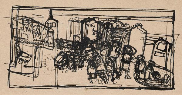 Children Playing in a Street (Compositional Study)