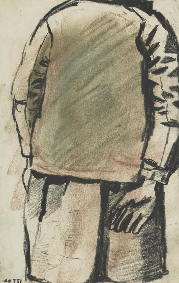 Study of a Boy in Blazer and Shorts, Seen from Behind