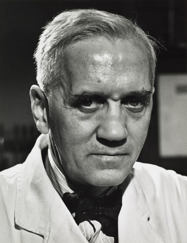 Sir Alexander Fleming, 1881 - 1955. Bacteriologist and discoverer of penicillin (1944)