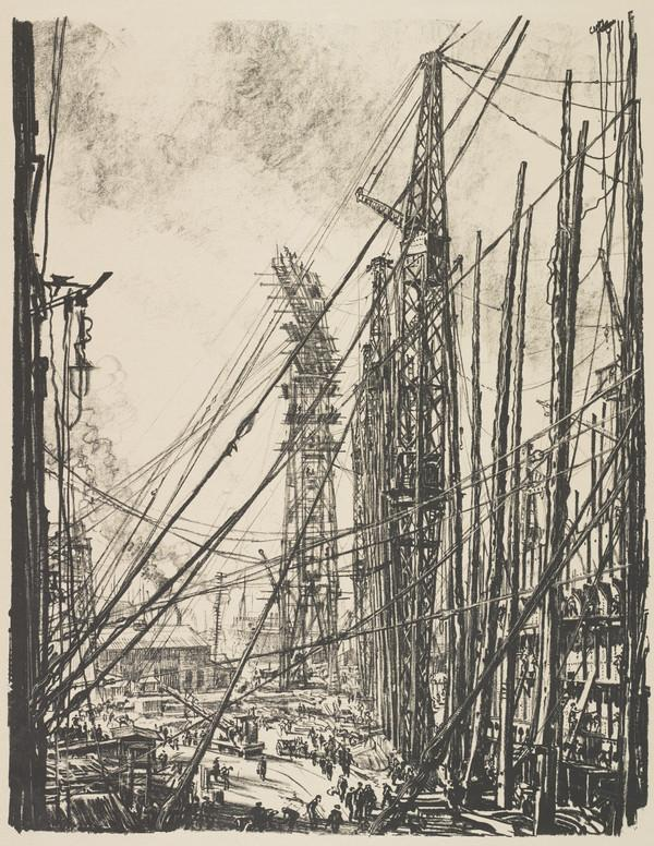 Building Ships: A Shipyard (from the series 'The Great War: Britain's Efforts and Ideals')