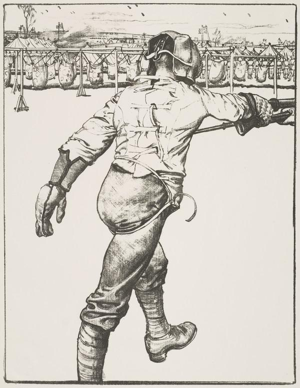 Making Soldiers: Bayonet Practice (from the series 'The Great War: Britain's Efforts and Ideals')