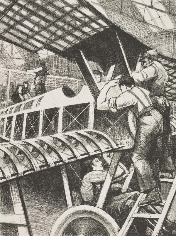 Building Aircraft: Assembling Parts (from the series 'The Great War: Britain's Efforts and Ideals')