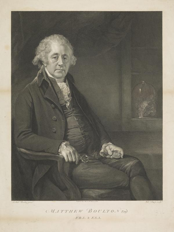 Matthew Boulton, 1728 - 1809. Engineer; partner with Watt in his completion of the steam engine