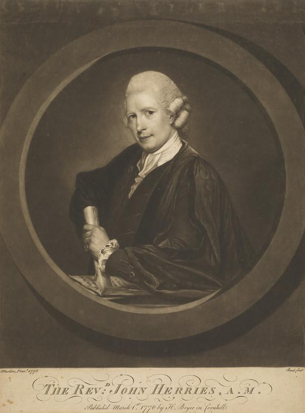 "Rev. John Herries, d. 1781. Author of ""The Elements of Speech"" (Published 1776)"