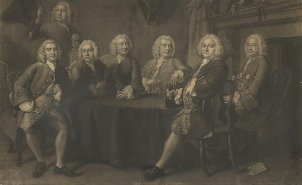 The Six Aldermen who went to the Isle of Wight, 1746, commonly called