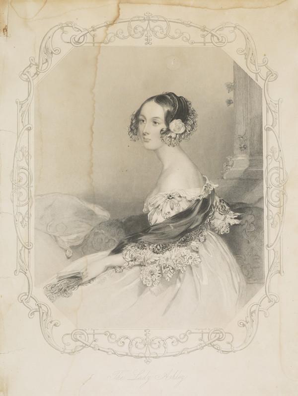 Emily (Cowper), Viscountess of Shaftesbury, 1810 - 1872. Wife of the 7th Earl of Shaftesbury; daughter of the 5th Earl Cowper