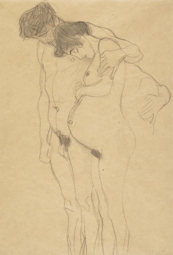 Schwangere mit Mann nach links (Pregnant Woman with Man)