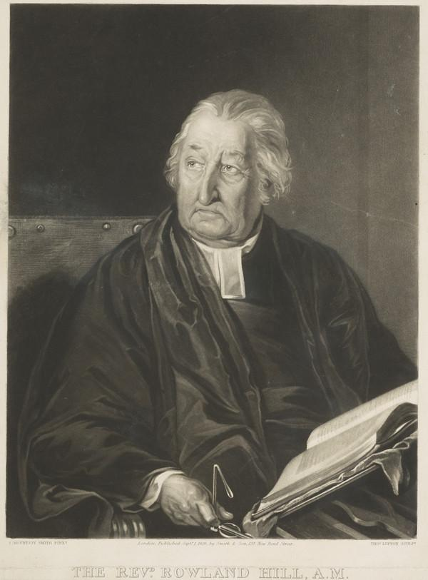 Rev. Rowland Hill, 1744 - 1833. Minister of Surrey Chapel