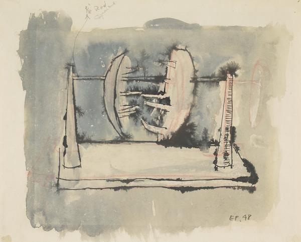 Hanging Forms (Study for 'Two Forms on a Rod') (1948)