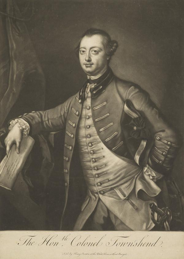 George Townshend, 4th Viscount and 4th Marquess Townshend, 1723 / 1724 - 1807. Military commander and artist