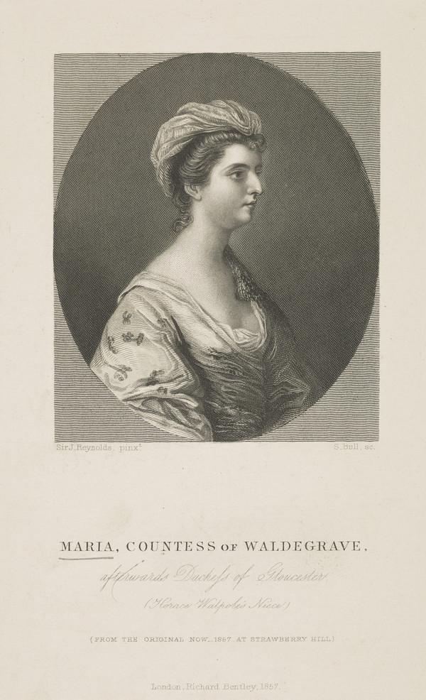 Maria Walpole, Duchess of Gloucester, 1739 - 1807. Wife of H.R.H. Henry, Duke of Gloucester