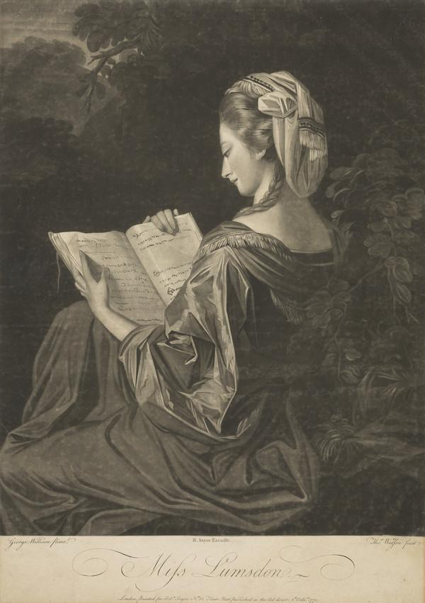 Miss Lumsden (Published 1770)
