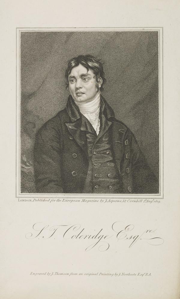 Samuel Taylor Coleridge, 1772 - 1834. Poet and philosopher