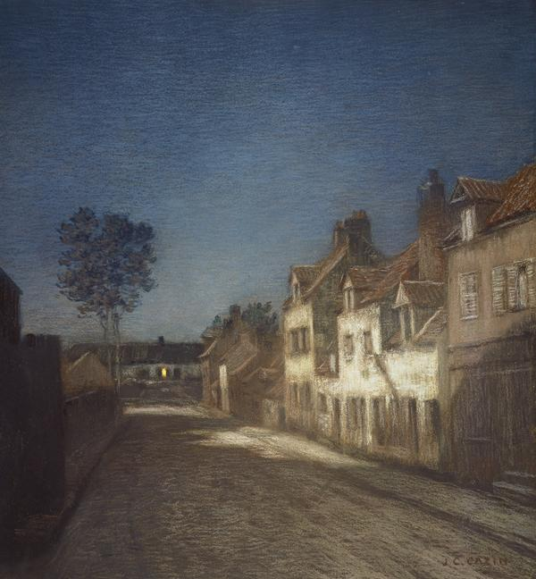 Une Rue le Soir [A Village Street at Evening] (1841 - 1901)