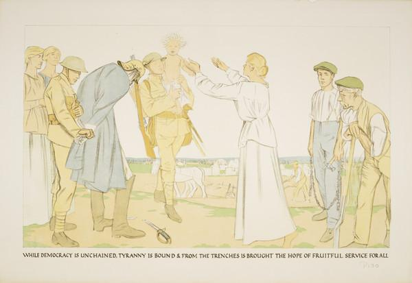 The Triumph of Democracy (from the series 'The Great War: Britain's Efforts and Ideals')