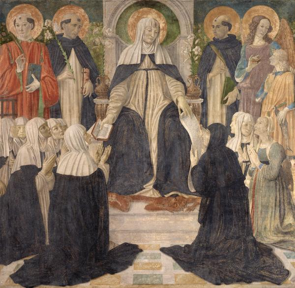 Saint Catherine of Siena as Spiritual Mother of the Second and Third Orders of Saint Dominic (About 1499 - 1500)