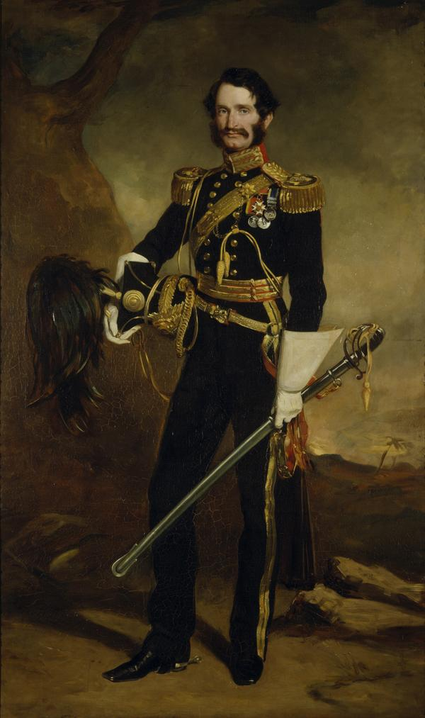 General Sir James Hope Grant, 1808 - 1875. Soldier (As Lieutenant-Colonel of the 9th Lancers) (1853)