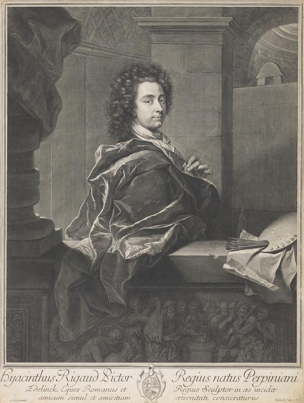 After Self Portrait by Hyacinthe Rigaud, 1698