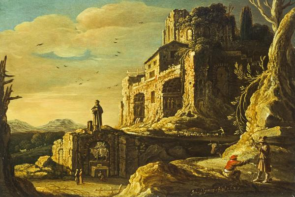 Landscape with Hermes and Battus (Dated 1637)