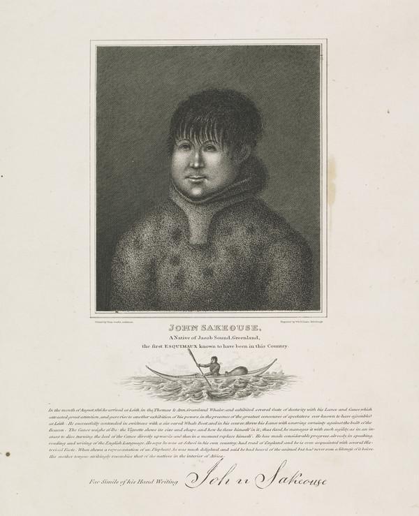 John Sakeouse, 1797 - 1819. Inuit whaler and artist