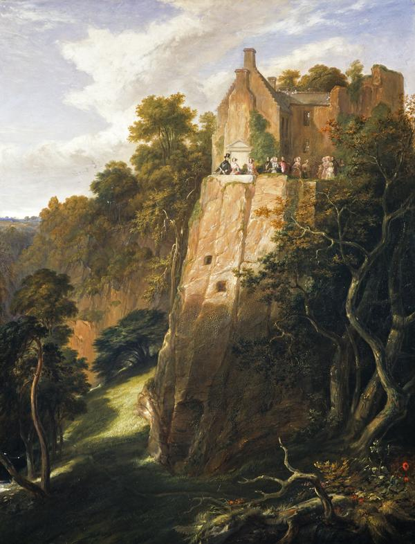 The visit of Queen Victoria and Prince Albert to Hawthornden, 14 September 1842 (1844)