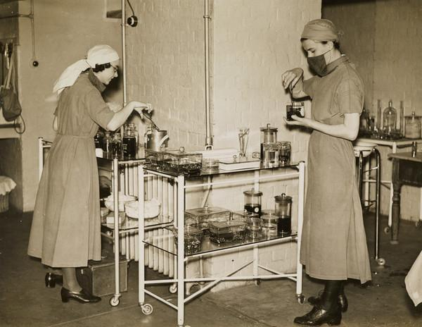 Nurses Sterilising Instruments