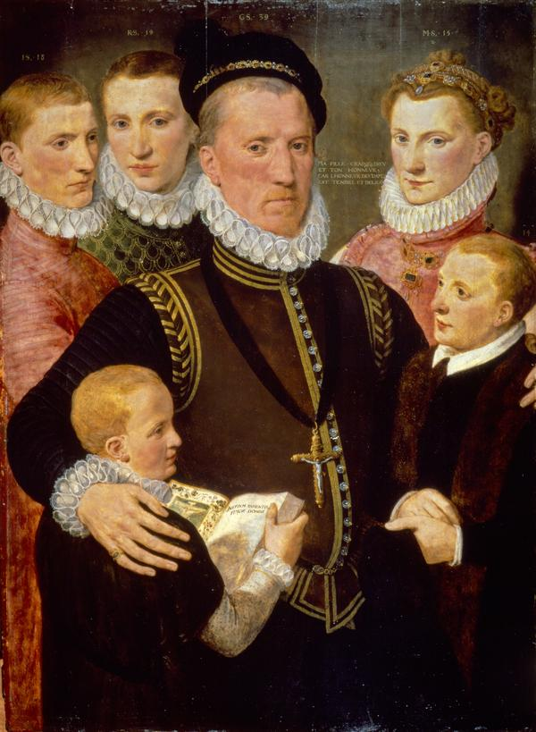 George, 5th Lord Seton (c 1531 - c 1585) and his Family (Also known as PGL 312) (Dated 1572)