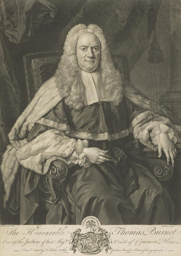 The Honourable Thomas Burnet. Justice of the Court of the Common Pleas