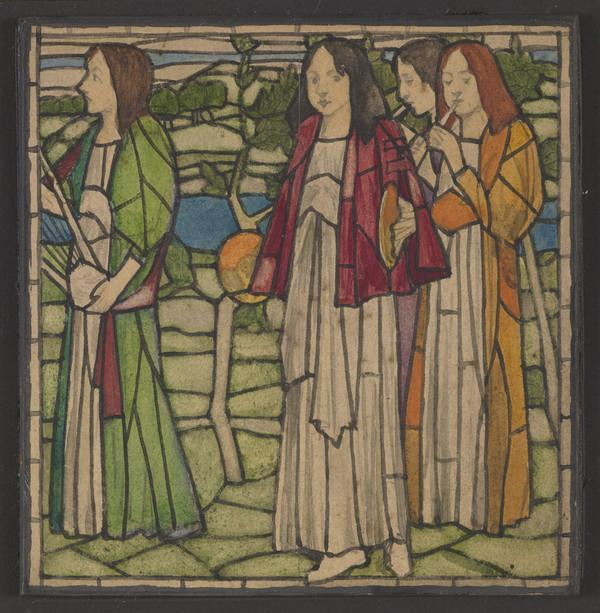 The Procession of Saint Agnes - Stained Glass Design