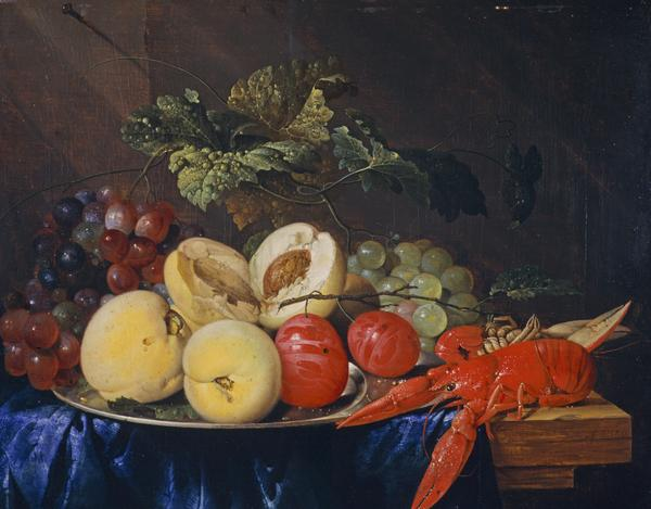 A Still-life with Fruit and Lobster (Dated 1650)