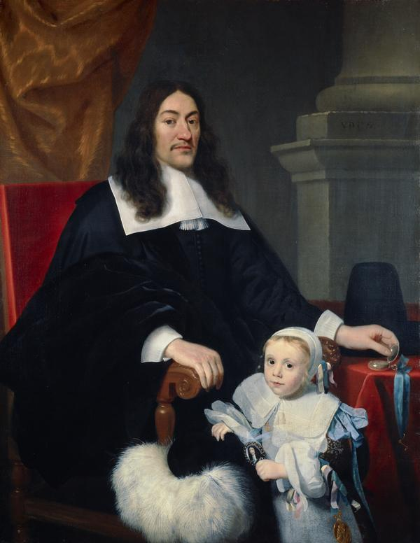 Sir William Davidson of Curriehill, 1615 / 1616 - 1689. Conservator of the Staple at Veere (with his son Charles) (About 1664)