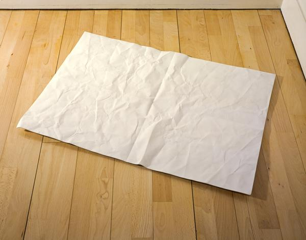 Sculpture of a Piece of Paper (1997)