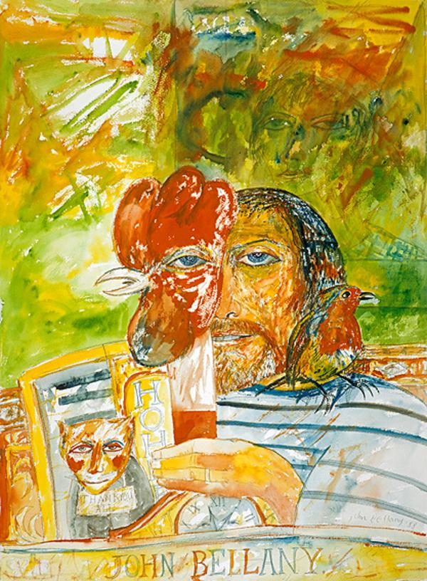 John Bellany, b. 1942. Artist (Self-portrait) (Dated 1988)