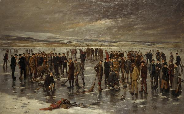 Curling at Carsebreck (1899)