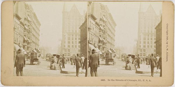 In Streets of Chicago, Ill., U.S.A (1890)