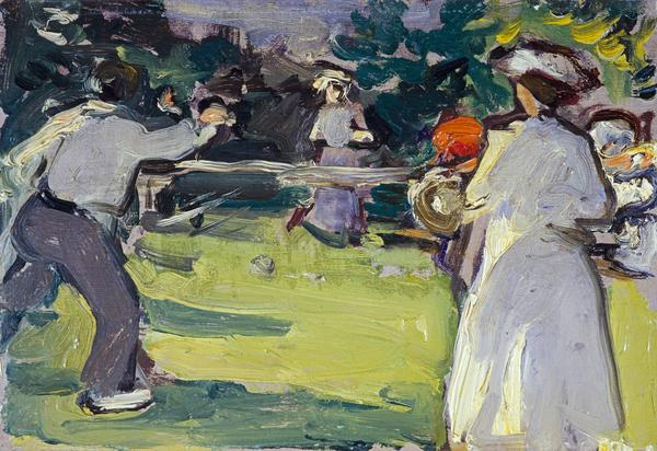 Game of Tennis, Luxembourg Gardens (About 1906)